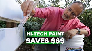 See how white paint dramatically cools your home