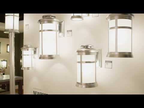 Video for Newport Painted Brushed Steel 9-Inch One-Light Outdoor Wall Lantern