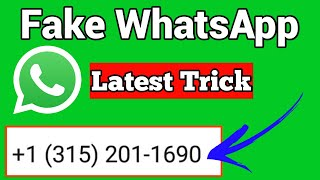 WhatsApp Fake number | How to create WhatsApp fake account with USA number | Latest Trick