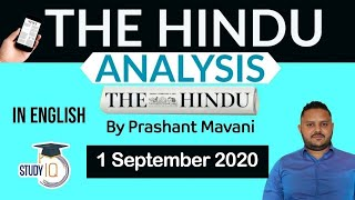 English 1 September 2020 - The Hindu Editorial News Paper Analysis [UPSC/SSC/IBPS] Current Affairs