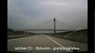 preview picture of video 'autostrada D1 - odcinek Bohumin - granica państwa (w budowie)'