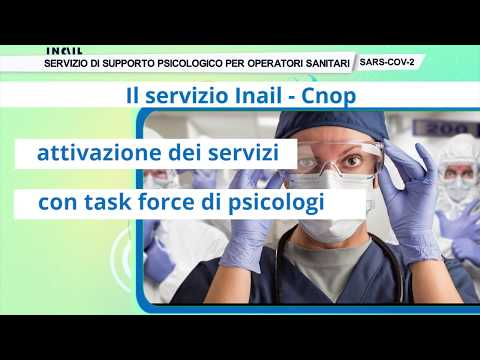Tutorial sul servizio di supporto psicologico per gli operatori sanitari - VIDEO