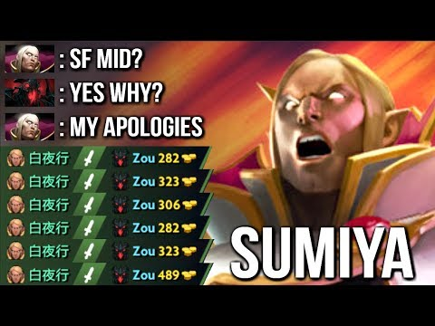 How To Delete Shadow Fiend Mid - SumiYa Invoker God Immortal Mode Crazy Combo WTF Dota 2