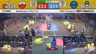Qual 110 - 2018 FIRST Championship - Houston - Turing Subdivision