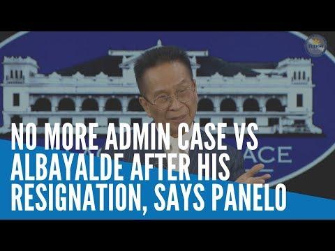 [Inquirer]  No more admin case vs  Albayalde after resignation — Panelo
