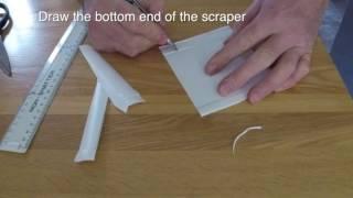 How to make a flexible dough scraper cutter for free