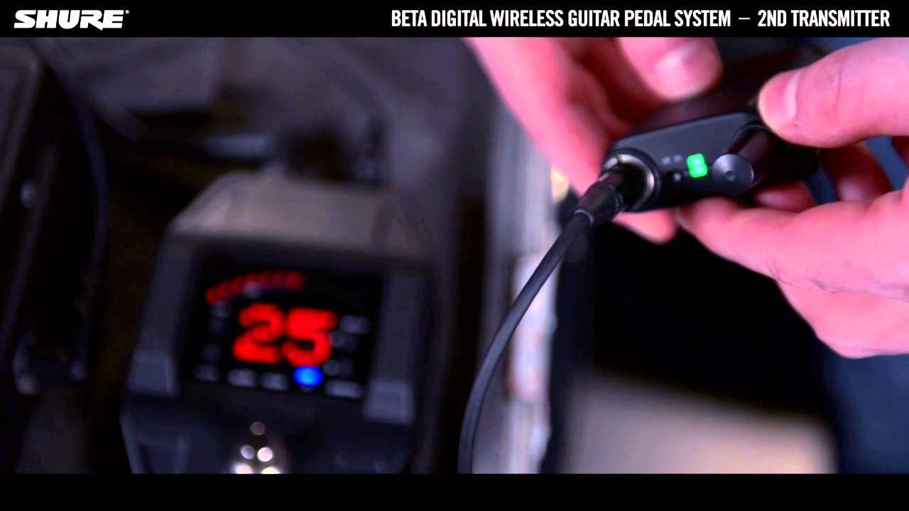 Shure Beta Digital Wireless Guitar System: How to connect multiple transmitters