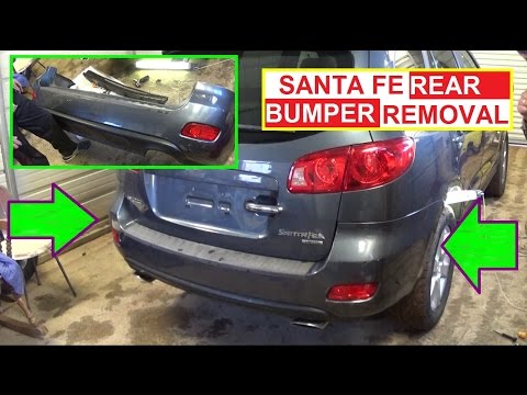 Rear Bumper Cover Removal and Replacement Hyundai SANTA FE 2006 2007 2008 2009 2010 2011 2012