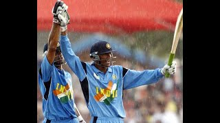 Rare India v New Zealand World Cup 2003 ! NZ 146 all out and Kaif and Dravid's 129 runs parternship