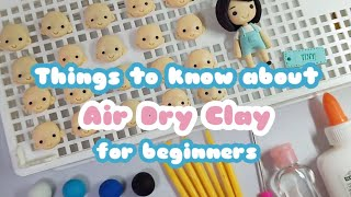 Beginners Guide To Air Dry Clay | Air Dry Clay Tutorial