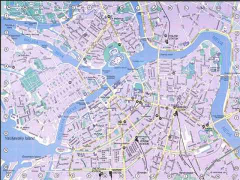 карта петербурга с достопримечательностями