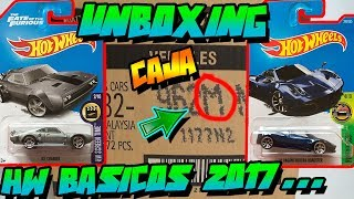UNBOXING - CAJA/CASE M HOT WHEELS BÁSICOS 2017