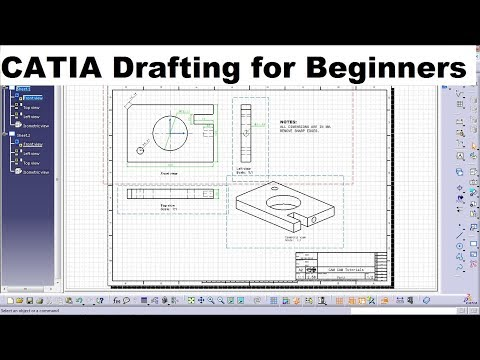 CATIA Drafting / Drawing Tutorial for Beginners - 1