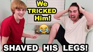 WE PLACED AN IMPOSSIBLE BET!! (PRANKED HIM) (Try this with a friend)