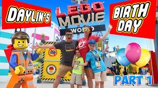 LEGOLAND LEGO MOVIE WORLD! Daylins 9th Birthday (FUNHouse Vlog) Part 1