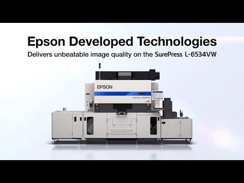 Prensa digital de etiquetas Epson SurePress L-6534VW | Aspectos técnicos destacados