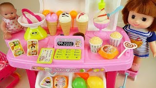 Baby doll Ice cream and kitchen food shop toys