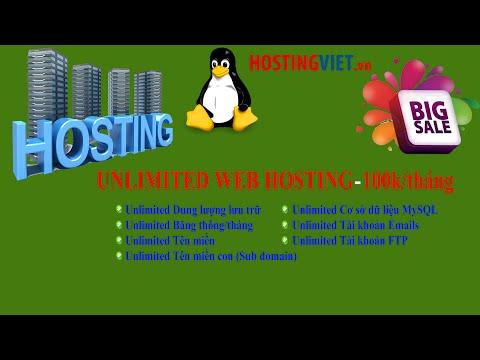 Hosting không giới hạn - Unlimited Web Hosting - Host Việt Nam