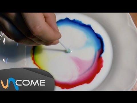 Esperimento con latte e coloranti