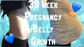 39 Week Belly Growth   Second Pregnancy!  