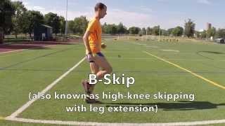 B Skip Running Form Drill Demonstration