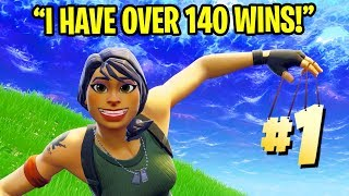 KID CAUGHT *LYING* ABOUT HIS WINS IN FORTNITE RANDOM DUOS!!