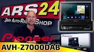 Pioneer AVH-Z7000DAB | 1-DIN Autoradio mit ausfahrbarem Display | CarPlay und Android Auto | ARS24