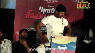 Vishal and Thiru at Naan Sigappu Manithan Audio Launch