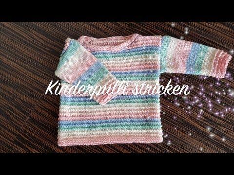 Kinderpullover stricken für Anfänger | Kinderpulli stricken