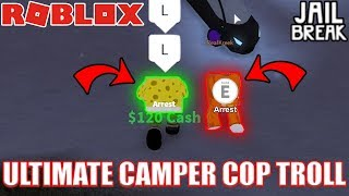 ULTIMATE CAMPING COP TROLLING KREEKCRAFT LIVE | Roblox Jailbreak