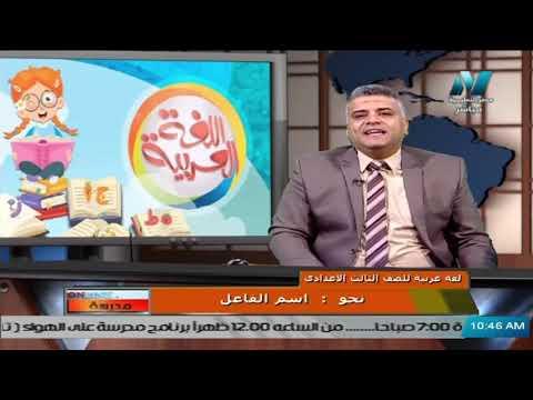 لغة عربية للصف الثالث الاعدادي 2021 ( ترم 2 ) الحلقة 2 – نحو : اسم الفاعل