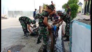 HUT ke-73 TNI, Kodim 1415 Selayar Bersihkan Sampah Taman Pelangi