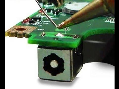 Laptop DC Jack Test and Repair