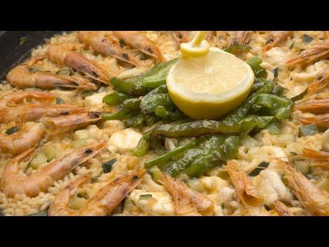 Arroz con rape, calamares, gambas, calabacín y pimiento verde - Karlos Arguiñano