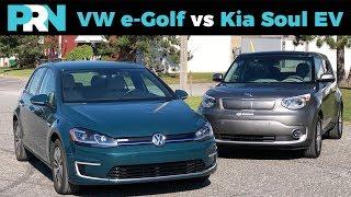VW e-Golf vs Kia Soul EV