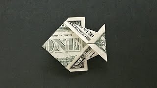 Money Origami Fish Instructions | How To Fold A Dollar Bill Fish Easy For Beginners