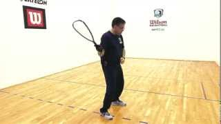 Racquetball: How to hit a forehand and backhand