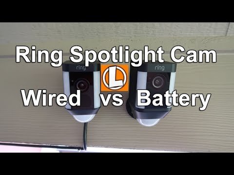 Ring Spotlight Cam Wired vs Battery...which one is better?