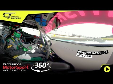 360-degree onboard lap of Brands Hatch - Fox Motorsport Mercedes-AMG GT4