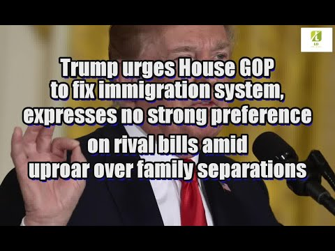 Trump urges House GOP to fix immigration system, expresses no strong preference on rival bills amid