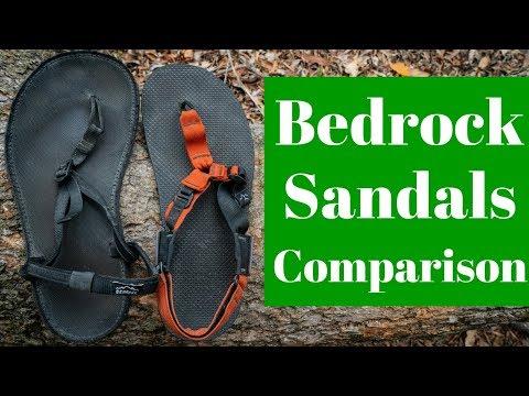 Bedrock Sandals Comparison - Classics vs Cairn Pro's