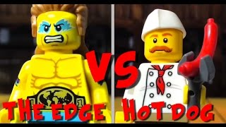 the edge vs hotdog guy - lego fight club - club de la lucha lego - lego animation - lego stop motion