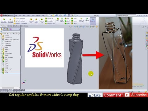 SolidWorks Beginner tutorial 5: Protein Shaker - Part 4