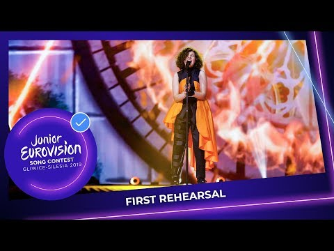 North Macedonia 🇲🇰 - Mila Moskov - Fire - First Rehearsal - Junior Eurovision 2019
