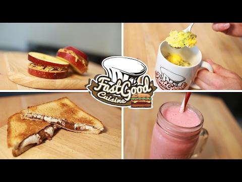 Petit‑Déjeuner ! 4 Recettes à faire en 5 minutes