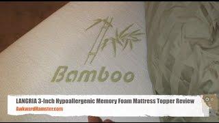LANGRIA 3 Inch Hypoallergenic Memory Foam Mattress Topper Review