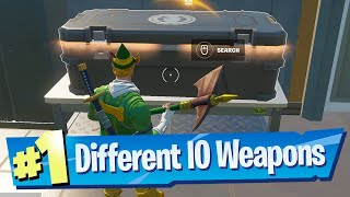Collect different IO tech weapons Location - Fortnite