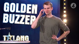 Marwin's incredible memory earns him a Golden buzzer on Sweden's Got Talent