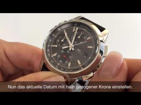 Wie stelle ich das Datum meiner Uhr ein?
