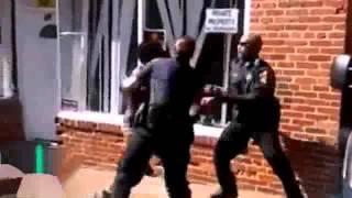 Драка с полицией,США